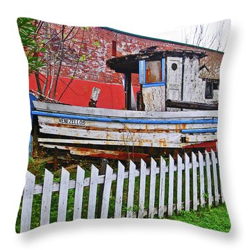 Redneck Dry Dock Throw Pillow