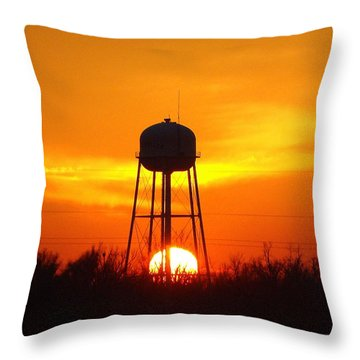 Redneck Water Heater For Whole Town Throw Pillow by J R Seymour