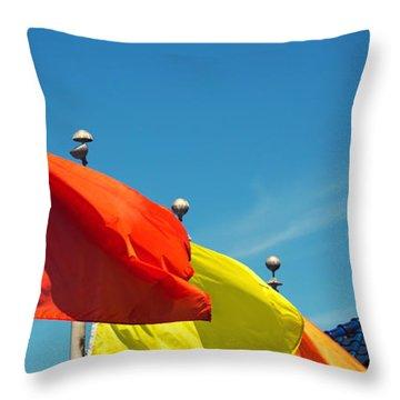 Redondo Beach Flags Throw Pillow