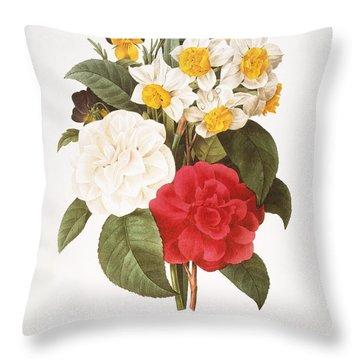 Redoute: Bouquet, 1833 Throw Pillow by Granger