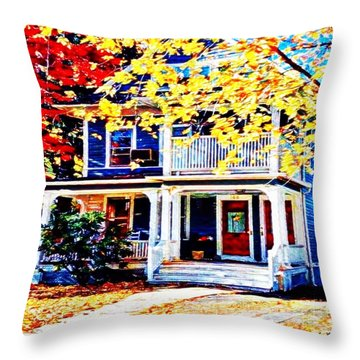 Reds And Yellows Throw Pillow