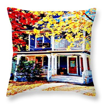 Reds And Yellows Throw Pillow by MaryLee Parker