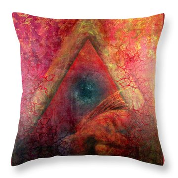 Redstargate Throw Pillow by Ashley Kujan