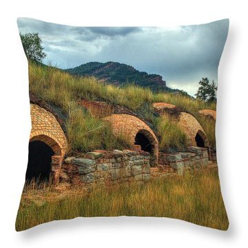 Redstone Coke Ovens Throw Pillow