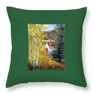 Redstone Inn Throw Pillow by Jill Musser