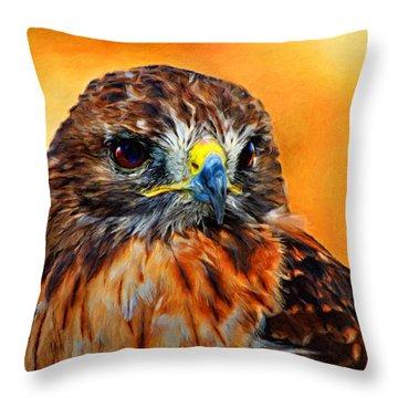 Redtailed Hawk Throw Pillow