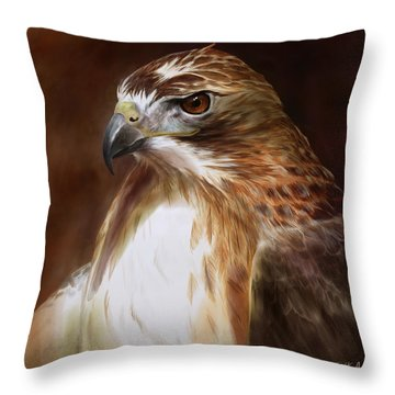 Red Tail Hawk Throw Pillows
