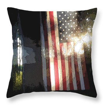 Redwhiteblue Throw Pillow