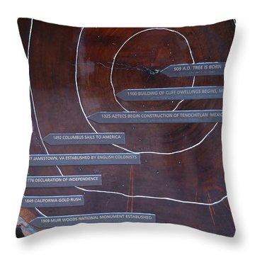 Redwood History Throw Pillow