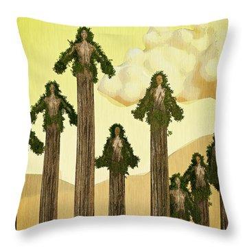 Redwood People Throw Pillow