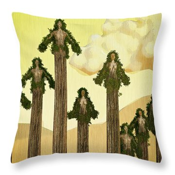 Redwood People Throw Pillow