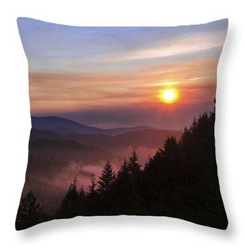 Redwoods Throw Pillows