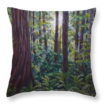 Redwoods Throw Pillow