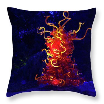 Redyellowbluenight Throw Pillow