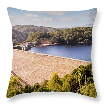 Dam Throw Pillows
