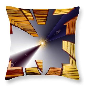 Reeds 3 Throw Pillow by Tim Allen