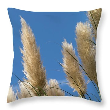 Reeds Against Sky Throw Pillow