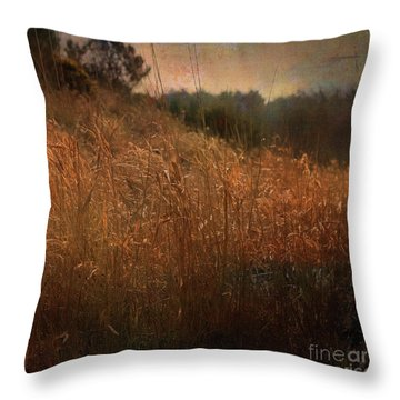 Reeds By The River Throw Pillow