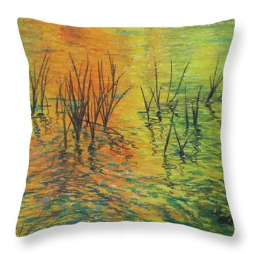 Reeds II Throw Pillow