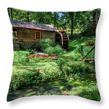 Reed's Mill Throw Pillow