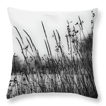 Reeds Of Black Throw Pillow