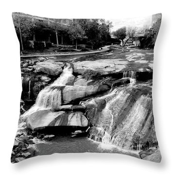 Throw Pillow featuring the photograph Reedy River by Corinne Rhode