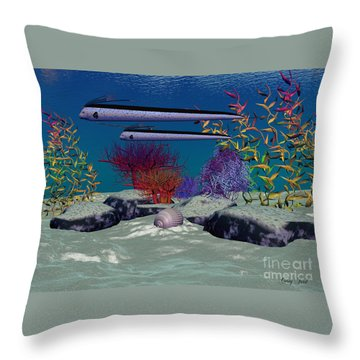 Reef Throw Pillow by Corey Ford