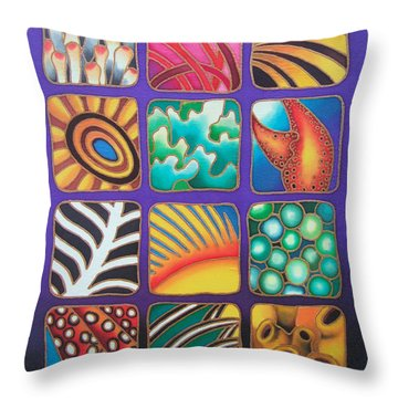 Reef Designs Ix Throw Pillow