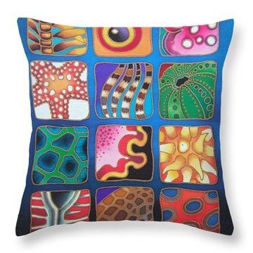 Reef Designs Vii Throw Pillow