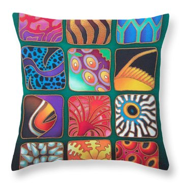 Reef Designs Viii Throw Pillow