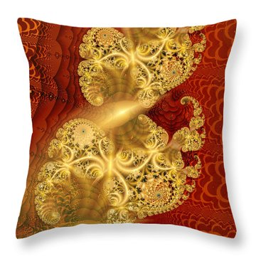 Throw Pillow featuring the digital art Reef Life by Richard Ortolano