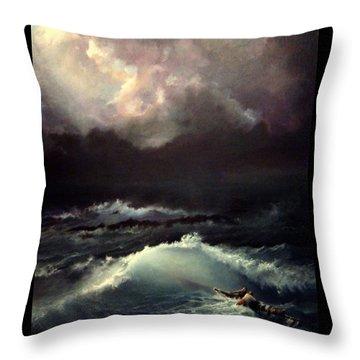 Reef Throw Pillow by Mikhail Savchenko