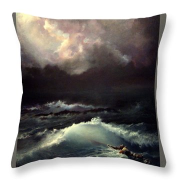 Throw Pillow featuring the painting Reef by Mikhail Savchenko