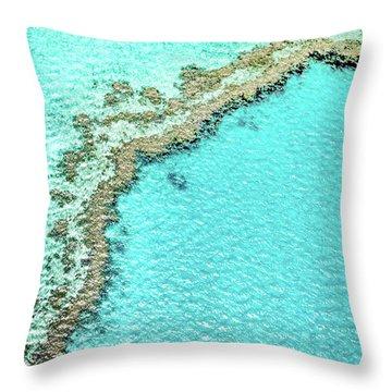 Reef Textures Throw Pillow by Az Jackson