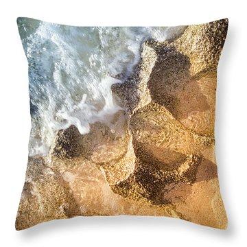 Reefy Textures Throw Pillow