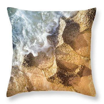 Throw Pillow featuring the photograph Reefy Textures by T Brian Jones