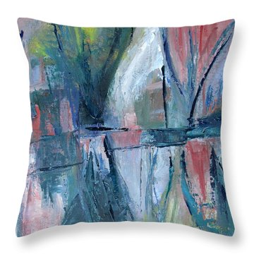 Reflections On Sails And Canvas Throw Pillow by Betty Pieper