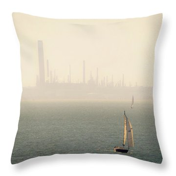 Refined Mists Throw Pillow