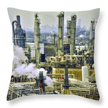 Refineries In Houston Texas Throw Pillow