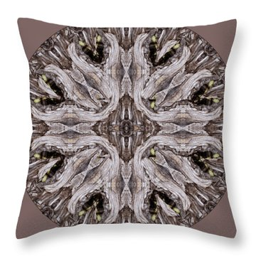 Reflected Alien Priests Kaliedoscope Throw Pillow