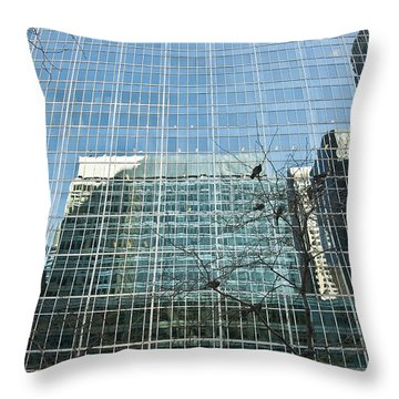 Reflected Buildings Throw Pillow by Svetlana Sewell