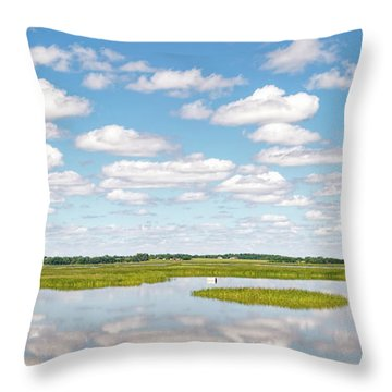 Reflected Clouds - 01 Throw Pillow
