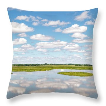 Reflected Clouds - 02 Throw Pillow by Rob Graham