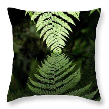 Reflected Ferns Throw Pillow
