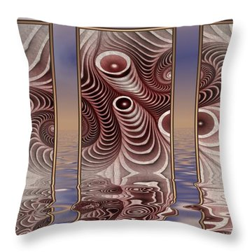 The Broken Fractal Throw Pillow