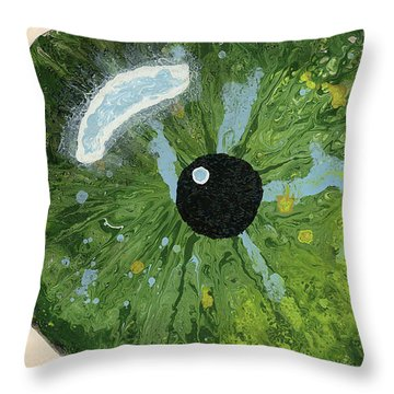 Reflected In The Eye Of A Child Never Born Throw Pillow