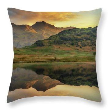 Throw Pillow featuring the photograph Reflected Peaks by James Billings