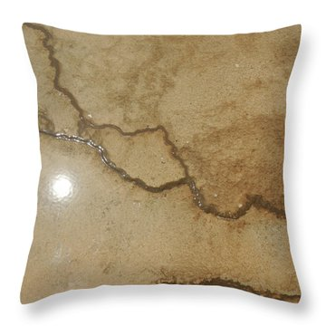 Reflected Sun In Hot Spring Throw Pillow