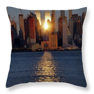 Reflected Sunset Throw Pillow