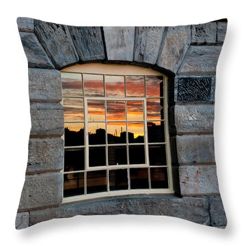 Reflected Sunset Sky Throw Pillow by Helen Northcott